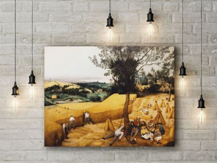 Pieter Bruegel the Elder: The Harvesters. Fine Art Canvas.